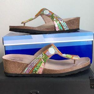 White Mountain Multi-Colored Sandals